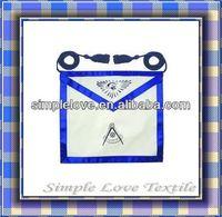 Customized Cheap Hand Embroiderd Regalia Club Fashion Rank Badges wholesale masonic aprons For Adults