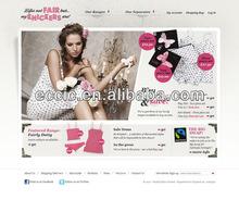 Underclothes e-commerce website design,web page design