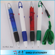 two color universal neck strap pen