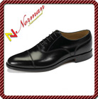 Black Toe Capped Oxford Shoes - GBS12011