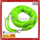 New Trendy Fluorescence Voile Fabric CCB Acrylic Scarf Beads
