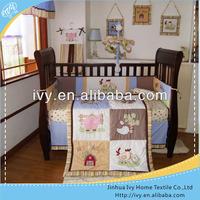 baby cotton animal bedding set for boys