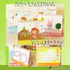WT-CLD-776 high quality 2014 cartoon cute calendar