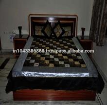 Tradicional de la india arte bordado de retazos colcha, Mayorista de seda colchas, Diseñador de ropa de cama