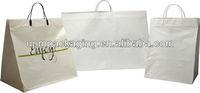 Hot sale white rigid handle plastic bag for shopping