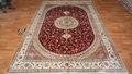صناعة السجاد الأحمر ميدالية 6x9 باليد اليدوية-- معقود التركية للبيع النمط الفارسي كليم الشرقية اليدوية السجاد الحرير الخالص