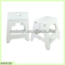 plastic folding 2-step stool