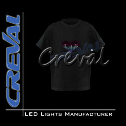 2014 hot sale LED Sound activated EL T-shirt