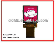 2.2 inch TFT LCD module with touch screen panel, LCD with LED backlight, resolution 320RGBx240