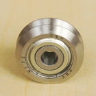 W1 ZZ 4.763mm bore Dual V Guide Wheel Shielded Precision Double Row Angular Contact Ball Bearings