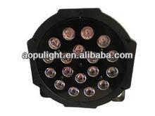 led mini par light 1w18pcs plastic par light rgb flat par can small housing stage light