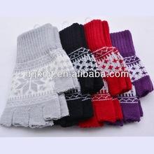 Acrylic Winter Fingerless thermal knit Mitten