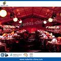 venta caliente populares durable 15m x 20m carpa de la boda india a prueba de agua tela de la tienda