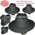 venta al por mayor de moda de mujer negro de fieltro sombrero de la iglesia