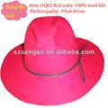 la moda de fieltro negro de gángster sombrero fedora