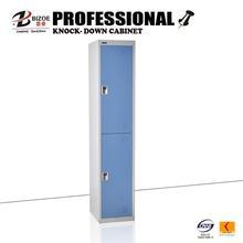grey individual double door cheap gym metal locker system