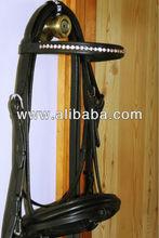 rhinestone horse leather bridle