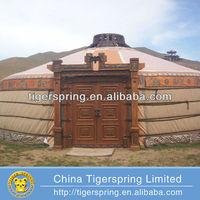 Luxury permanent steel or wood frame mongolian yurt tent