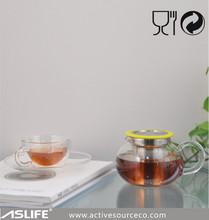 New Product 2014! Glass Tea Kettle&Double Wall Glass Tea Cup&Tea Warmer! The Chinese Glass Tea Maker Set