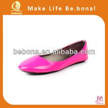 2014 stylish comfortable ladies sexy rose dress flat shoes