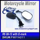 For YAMAHA R6 08 09 10 11 12 Motorcycle Back Mirror Black With E Mark FMIYA011