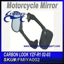 For YAMAHA YZF R1 2002 2003 Motorbike Mirror Carbon Look FMIYA002
