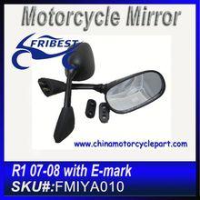 For YAMAHA R1 2007 2008 Motorcycle Rear View Mirrors Black FMIYA010