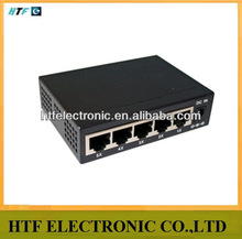 mini design 5p 10/100/1000M external power adapter supply unmanaged full duplex Ethernet sfp switch metal case