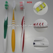 #434 interdental cutting bristle toothbrush, big printing handle toothbrush, simple and clean design toothbrush