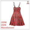 Fashion sweetheart neck floral print spaghetti dress