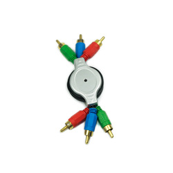 Retractable Component Cable RGB Cable