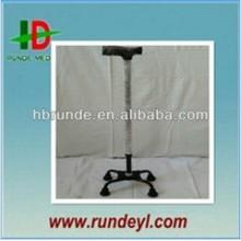 Aluminum walking cane with 4 legs