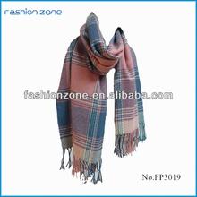 2014 fashion striped winter scarf shawls wholesale