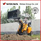 China 1.5Ton tyre machine dumping dumper loader skid steer loader mini wheeled walking loader mini dozer for sale