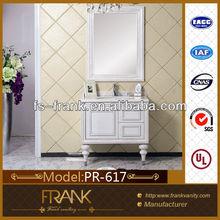 China wholesale Modern oak wood bath cabinet push open vanity PR-617