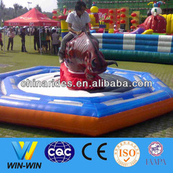 Adult playground rides bull riding toys attractions in china