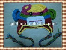 cute names monkey knitted monkey hat baby props crochet dobby pattern
