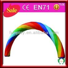 Durable 0.6mm PVC Tarpaulin inflatable plastic arch