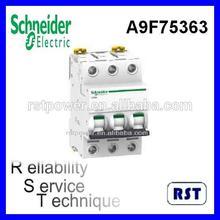 Schneider Merlin Gerin electrical mccb Acti9 iC60ND 3P 63Amp Circuit breaker