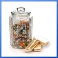 Almacenamiento frasco de vidrio/baratos frasco de vidrio con corcho