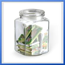 china housewares/square glass jar/glass spice jar