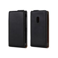 Genuine leather protective for nokia lumia 800 flip case