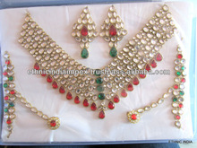 Wedding Dulhan BRIDAL KUNDAN NECKLACE set