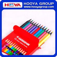 Promotional plastic cheap wholesale 12 color pencils