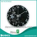 guangzhou rohs y ce de decoración para el hogar 12 pulgadas de cuarzo de plástico personalizada reloj de pared