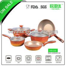 8pcs aluminum enamel cast iron cookware