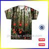 OEM custom polyester printed t-shirt