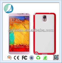 Clear bumper TPU Case for Samsung Galaxy note 3