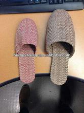 men promotion jute slippers