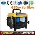 2014 600w generador de gasolina pequeño peso ligero uso en el hogar